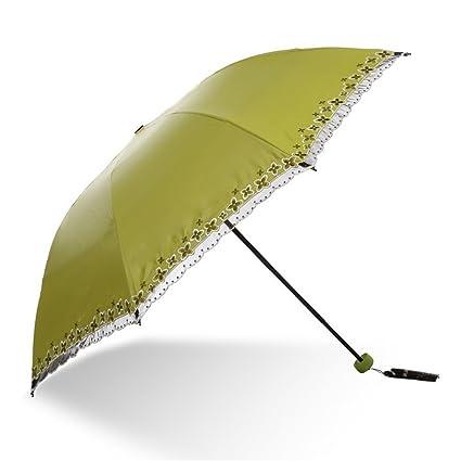 DYEWD Paraguas,Nuevo Paraguas de Verano, sombrilla Bordada de Moda, Paraguas UV de