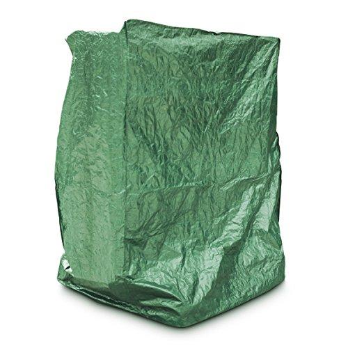 Relaxdays Schutzhülle für Tischtennisplatte Wasserabweisend und wetterfest als abwaschbare Schutzplane für Outdoor Platten inkl. windsicheres Befestigungsmaterial HBT: 55 x 160 x 182 cm, grün