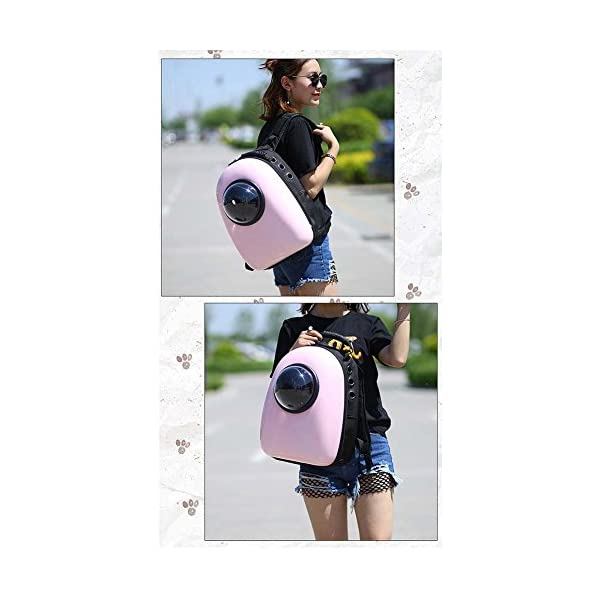 Ocamo Breathable Capsule Pet Backpack Carrier Travel Bags for Cat Dog Puppy Small Animals 12.6″*11.4″*16.5″ Click on image for further info. 2