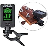 Jieway JoYo Clip On Chromatic Guitar Tuner, Bass Banjo Ukulele Violin Oud Tuner