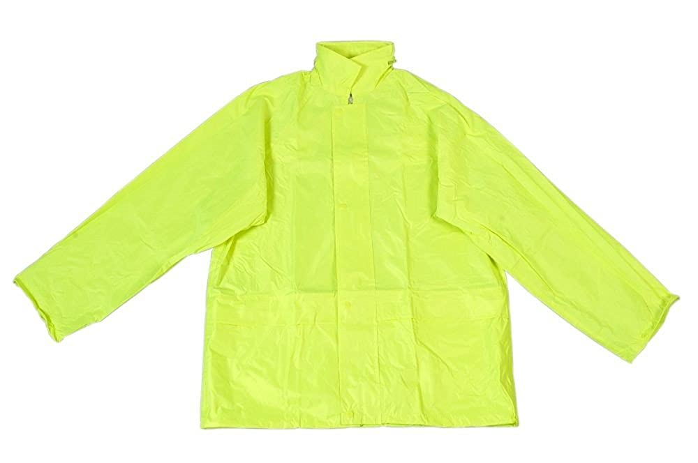 UCI High Visibility Yellow Rain Jacket, With Hood, Small