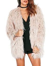 Women's Long Sleeve Fluffy Faux Fur Warm Coat