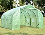 NSdirect Green House(12'x10'x7'),Heavy Duty Walk in Outdoor Plant Gardening Greenhouse Portable Plant Hot House with Double