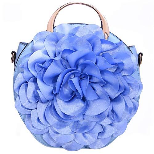 Élégant Sac Sac Fleurs Clair tout à Cuir à Sac Fourre Sac KAXIDY Main Bleu Femme à Main PU Bandoulière PIggq
