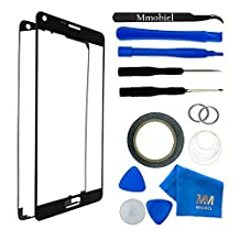 MMOBIEL Front Glass for Samsung Galaxy Note 3 N9000 Series (Black) Display incl 12 pcs Tool Kit / Pre-cut Sticker / Tweezers/ Roll of Adhesive Tape / Suction Cup / Metal Wire / cleaning cloth