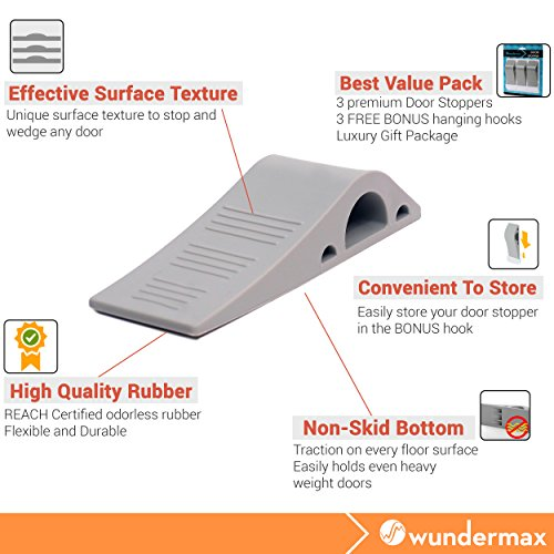 Wundermax-Decorative-Door-Stopper-With-Free-Bonus-Holders-Door-Stop-Works-on-All-Floor-Surfaces-Premium-Rubber-Door-Stops-The-Original