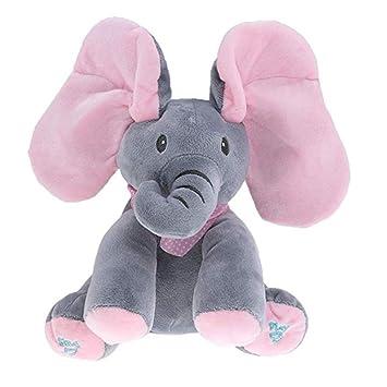 Zerodis Pl/üsch Elefant Pl/üschtier Singen Spielzeug Geburtstagsgeschenk f/ür Baby Kleinkinder
