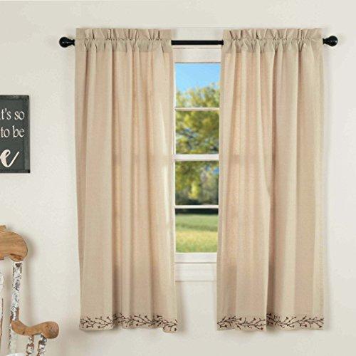 Piper Classics Twig & Berry Vine Panel Curtains, 63