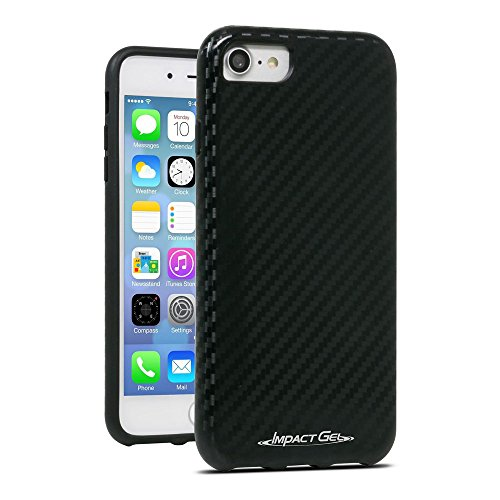 Impact Gel Cell Phone Case for Apple iPhone 6/6S/7 - Black