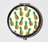 Pineapple Compact Mirror Pocket Size for Makeup Cosmetics Fruit Pop Art