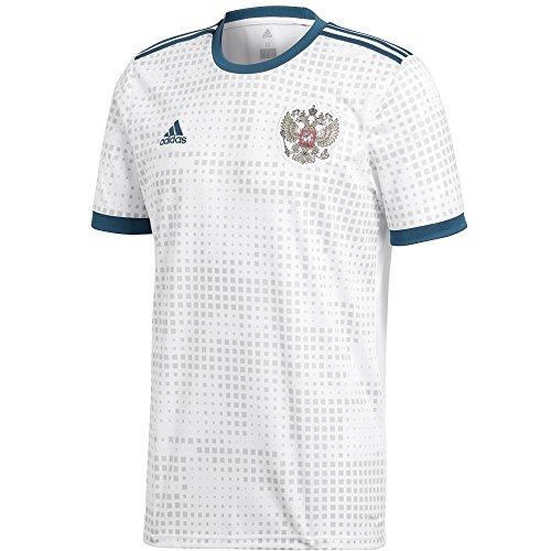 (adidas Russia Away Jersey 2018 (3XL) White)