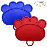 Oyrlize Dog Lick Pad Bath Toys, FDA Approved Pet Distraction Toy Portable Handy Hook Silicone Food Mat Just Spread Peanut Butter and Stick for Easy Fun Shower Grooming and Training, Dog Paw Shape