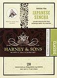 Harney & Sons Green Tea, Japanese Sencha, 20 Sachets, Pack of 6