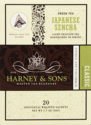 Harney & Sons Green Tea, Japanese Sencha, 20 Sachets