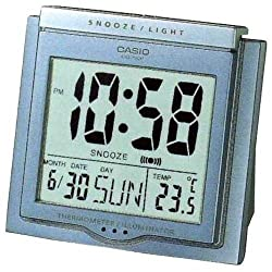 Casio Travel Alarm Clock with Thermometer DQ750F-2D