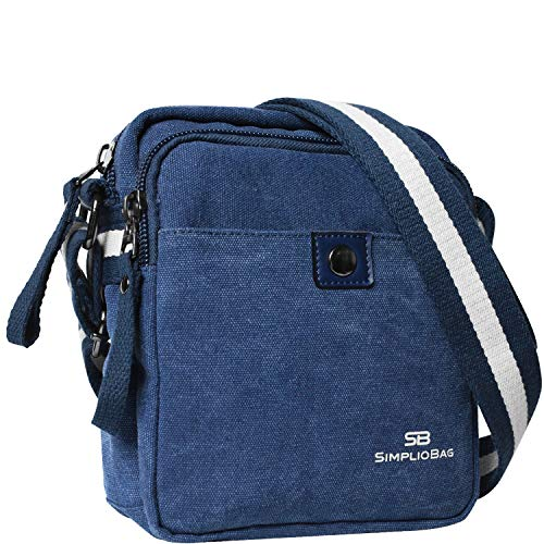 SIMPLIO Small Messenger Bag for Men & Women   Canvas Purse For Men   Stylish Carry Field ()