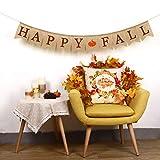 Whaline Happy Fall Pumpkin Burlap Banner Harvest