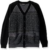 Pendleton Men's Waverly Cardigan Sweater, Grey/Black, SM