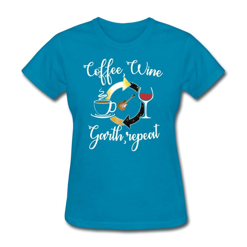 d61066e99 Amazon.com: LowB Clothing Coffee, Wine, Garth, Repeat Women's T-Shirt:  Clothing