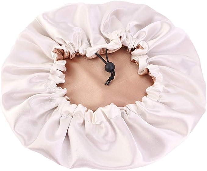 joyMerit Satin Bonnet Sleeping Cap Damen Verstellbare Satin Cap F/ür Sleeping Reversible