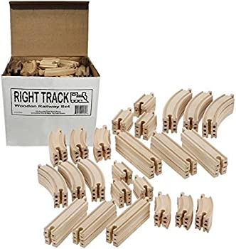 Right Track Toys Wooden Train Track 100 Pc. Pack