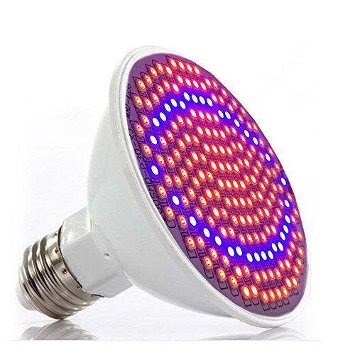 LED Grow Lights Bulb E27 LED Plant flower Lamp 200 LED RED BLUE light for indoor greenhouse Garden office Green house Hydroponics Plant Seedling Growing AC85-260V