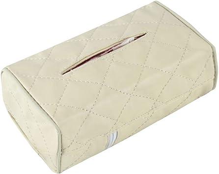Universal Leather Auto Car Tissue Box Cover Napkin Paper Holder Towel Dispenser