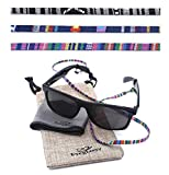 Sunglass Straps - Eyewear Retainer [Pack of 3 + Bonuses] - Eyeglass Holder, Chain, Cord, Necklace, Lanyard - Eyeglass Strap - Eyeglass Retainer - Eyewear Holder - Glasses Straps - Eyewear Holder