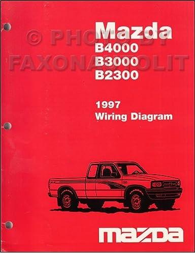 1997 mazda b4000 b3000 b2300 pickup truck wiring diagram manual rh amazon com
