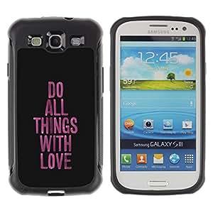 "Pulsar iFace Series Tpu silicona Carcasa Funda Case para Samsung Galaxy S3 III I9300 , Amor Cosas Cómo funcionan púrpura Mensaje Negro"""