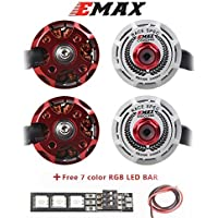 Weyland EMAX RS2306 2400kv 3-4S Brushless Motor 4 Pics CW for RC Racing Drone Multirotor White Edition RACESPEC Motor with1 PCS 7 Color Led Bar