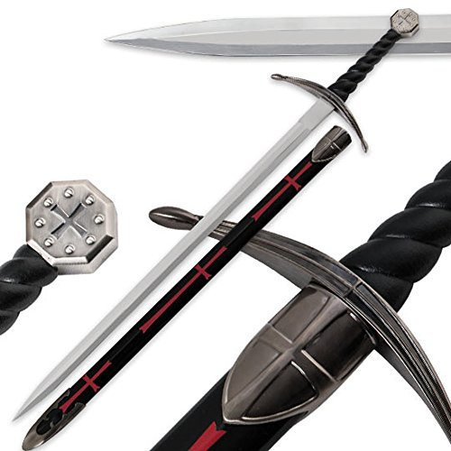 One Hand Knight's Templar Sword With Scabbard (Mens Templar Knight Costume)