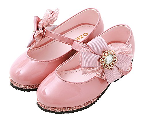 Bijou Dress Girls pink Shoes Flats Toddler Mary S267 Little Jane oz Girls Ozkiz Flat CPXfHw1nXq