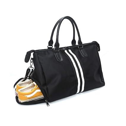 Bolsa de Viaje, Bolsa Fin de Semana Impermeable Bolso Deportivo con Compartimento para Zapatos para Mujer y Hombre