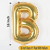 Number 21 with foil balloon
