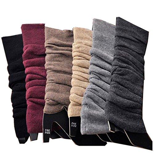 Lucky staryuan Cyber Monday Thin Women Set of 3 Wool Knit Leg Warmer (ranom ()