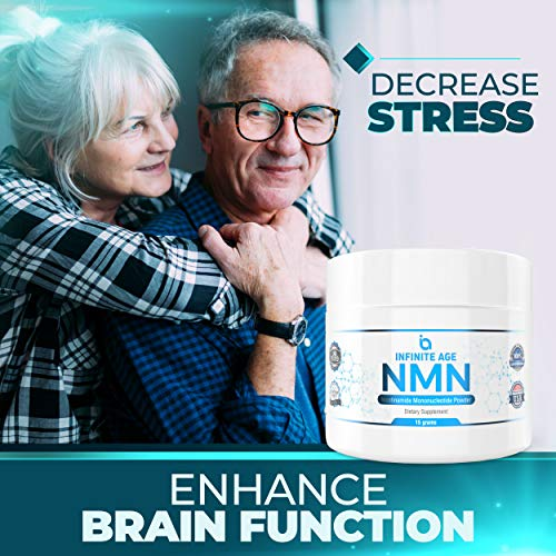 51Gjhsl GbL - NMN Supplements, NMN Nicotinamide Mononucleotide, Nad Booster By Infinite Age  NMN Powder 15 GRAMS (Per Jar) For Anti Aging, Brain Function, Stress, Health, Energy. NMN Molecule Supplement