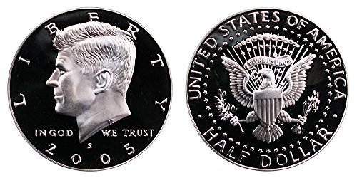 2005 S US Mint Deep Cameo Kennedy Silver Proof Half DCAM