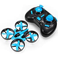 JJRC H36 Mini Drone with 24Ghz 6-Axis Gyro Headless Mode Nano RC Quadcopter for Beginner and Kids, 3D Flip One Key to Return Remote Control Toy Easy to Fly (Blue)