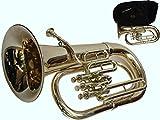 Global Art World Stylish Euphonium 3 Valves Shinning Flat Brass Along With Mouth Peice MI 083