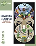 The California Desert Mountains 1000 Piece Jigsaw Puzzle by Charley Harper by Pomegranate