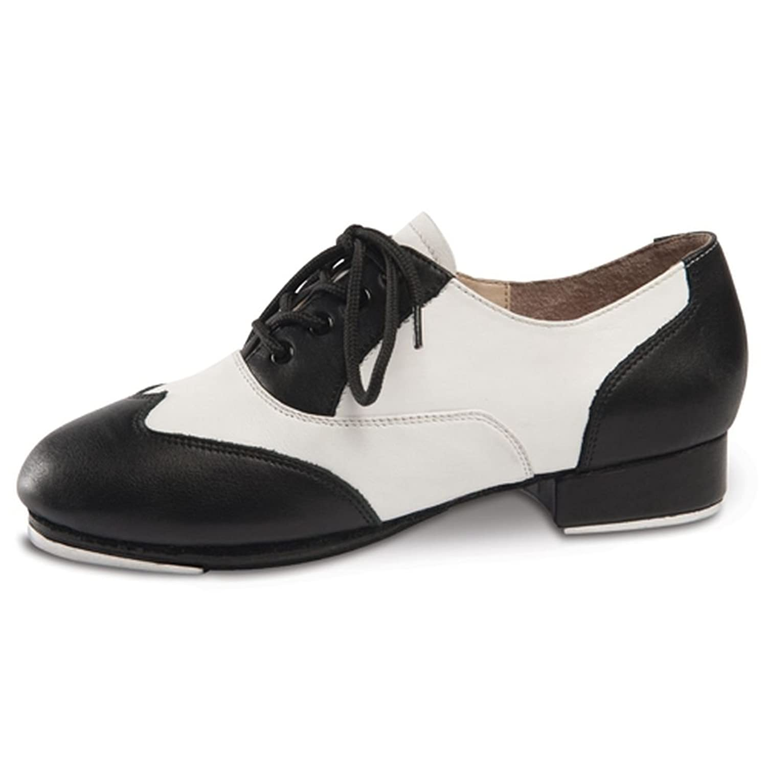 1930s Style Shoes – Art Deco Shoes Danshuz Womens Black White Saddle Style Tap Dance Shoes Size 3-11 $119.95 AT vintagedancer.com