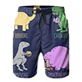 RYUO Herbivore Carnivore Short Beach Shorts Summer Boardshort Cute Classical Baseball