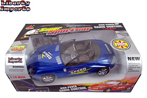 Super RC Race Car 1:18 RTR Series Sports Car for Kids (Colors Vary)
