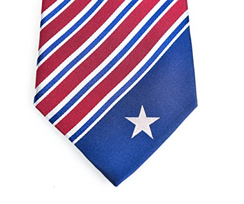 Texas Silk (Texas Tie - Inspired by the Texas Flag. 100% Woven Silk. Texan Tie. Texas Necktie.)