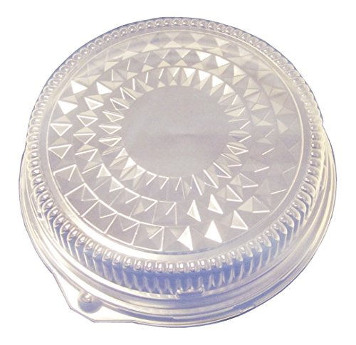 12' Round Serving Tray (Durable Packaging Plastic Dome Lid for Round Disposable Pan, 12