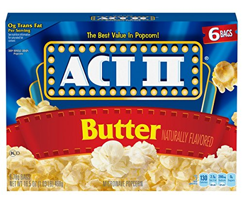 Act II Popcorn Butter, 6 Count (Pack of 6) - Act Ii Microwave Popcorn