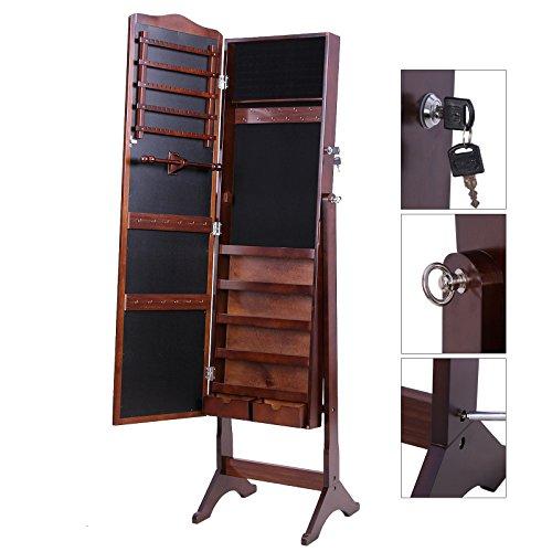 songmics schmuckschrank spiegelschrank standspiegel. Black Bedroom Furniture Sets. Home Design Ideas