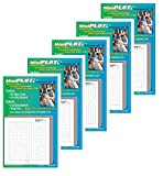MiniPLOT Graph Paper: 5 pads of 3'' x 3'' ISOMETRIC GRID patterns pre-printed on adhesive backed paper. 50 sheets per pad. Use to help students draw 3 dimensional objects.