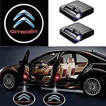 Car Door Welcome Light Shadow Light Laser Emblem Logo Projector Skodalogo 2Pcs Universal Wireless Car LED Door Projector